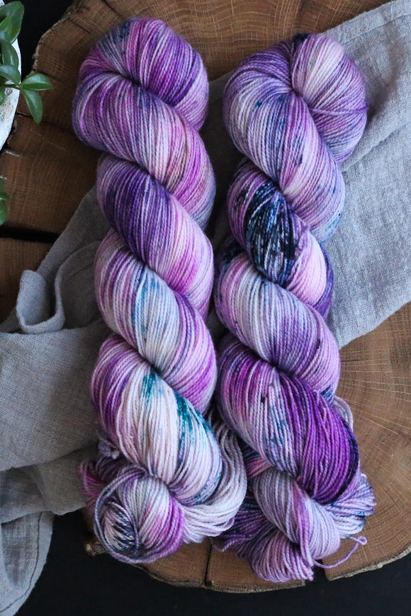 Purple Rain - Vibrant 80/20 - Fingering Weight