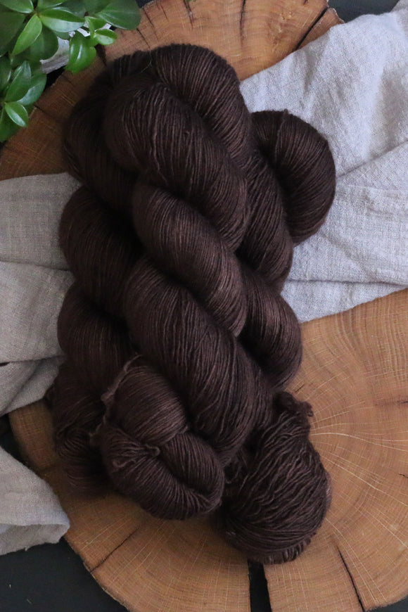 Bitter Chocolate - Modest Singles-  Non-Superwash Fingering Weight