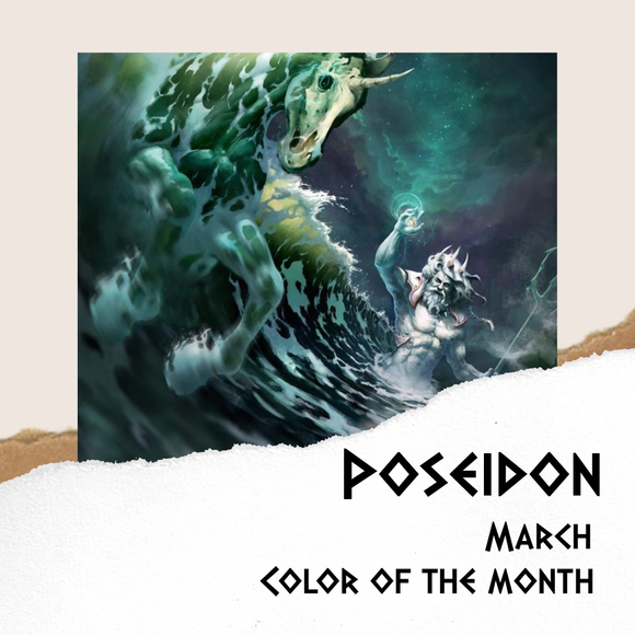 Mythology Color of the Month - March - Poseidon