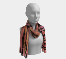 Load image into Gallery viewer, Cinnamon Sticks Collage scarf--6 foot long or short, Poly or SILK,$26-$48
