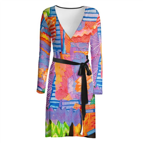 Wrap dress, dressing gown, artwear