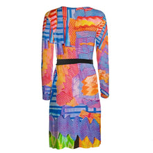 Load image into Gallery viewer, Wrap dress, dressing gown, artwear