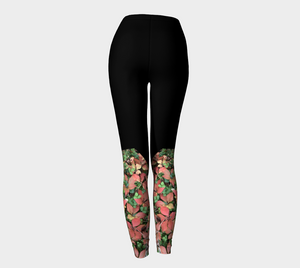 Yoga leggings, River Forest Autumn photo art