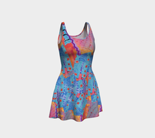 Load image into Gallery viewer, BLUEBERRY ORANGE SKATER DRESS