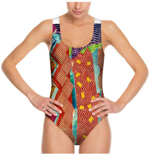 Swimsuit, bodysuit, dancewear--Zig Zag Tomato Collage