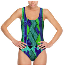Load image into Gallery viewer, Swimsuit, body suit, Kiwi Collage