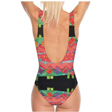 Load image into Gallery viewer, Swimsuit, body suit, Zig Zag Tomato Collage