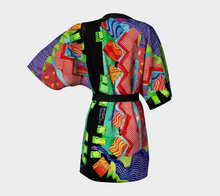 Load image into Gallery viewer, Kimono Robe, Zig Zag Tomato #2 Collage
