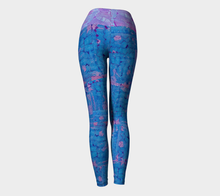Load image into Gallery viewer, Yoga leggings, high waist--Blues Beautiful Collage