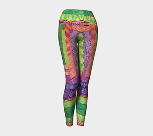 Yoga leggings, high waist--Celery & Spice Collage