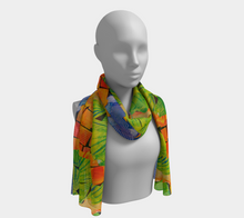 Load image into Gallery viewer, Scarf--6 feet long or short, Citrus Punch Collage