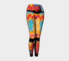 Load image into Gallery viewer, Yoga leggings, high waist--Thunderstorm Collage