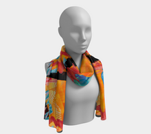 Load image into Gallery viewer, Thunderstorm Collage scarf--6 foot long or short, Poly or SILK, $26-$48