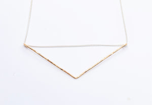 14K Gold Chevron Necklace
