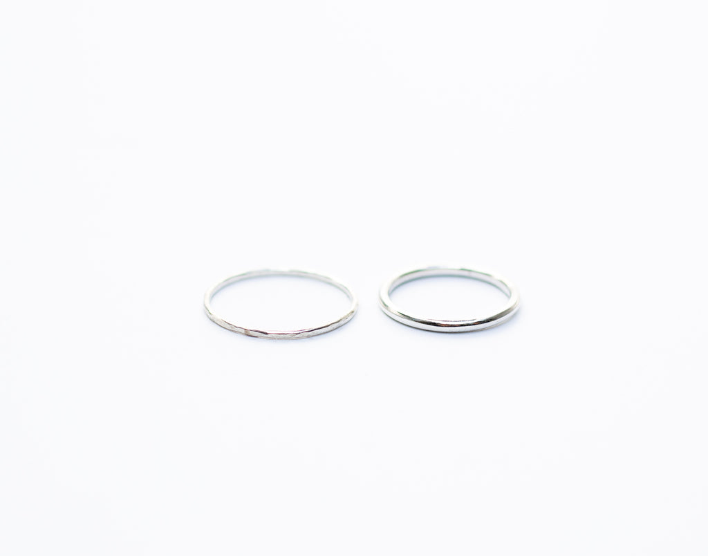 Thick Silver Stacking Ring