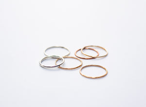 Thin Copper Stacking Ring