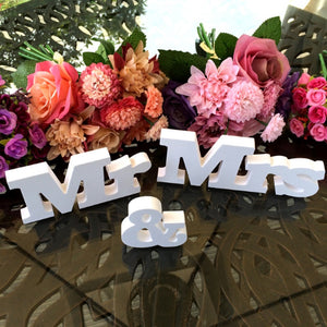 Mr & Mrs/Love/Photo Frame Wedding Table Decorations White Letters