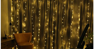 Perfectly Spaced String Light 10M x 3M 1000 Bulbs LED Curtain String for Wedding Decor