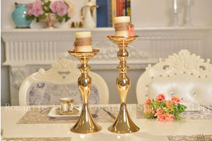 10PCS Gold Candle Holders/Stands for Flowers 50cm/32cm