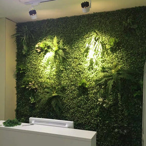 Artificial Plant Wall For Exotic Decor on a Budget