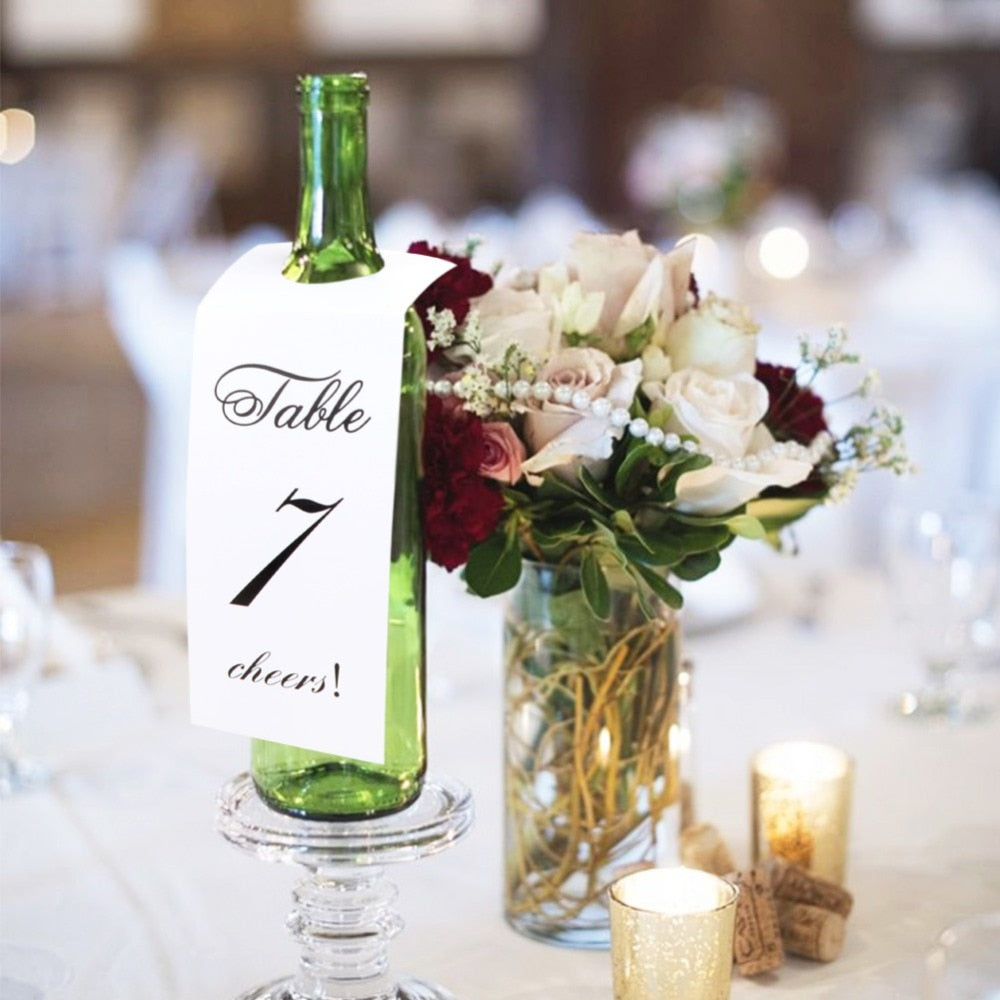 Wine/Champagne Bottle Table Identifier