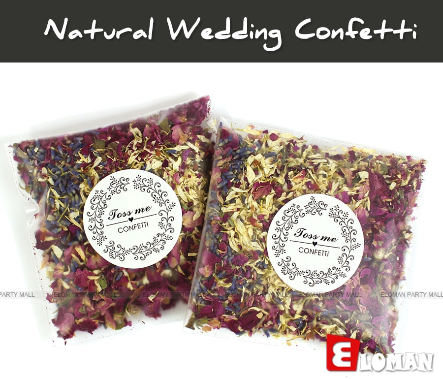 100% natural wedding confetti dried flower petals biodegradable confetti (12 bags)