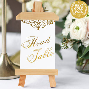 1-24 Wedding Reception Table Identifier Including Head Table Card