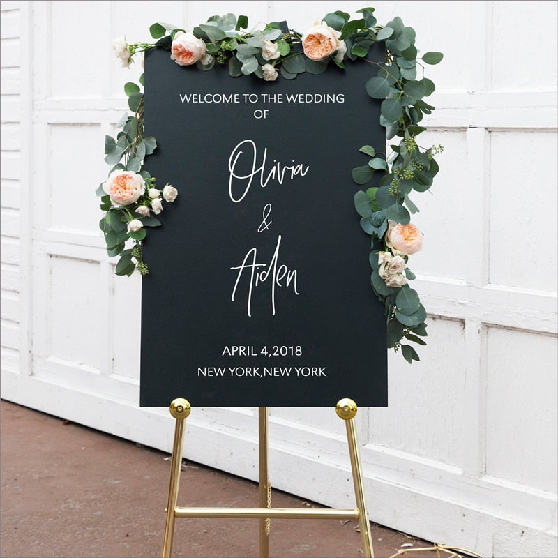 Personalized Welcome Sign Decals Sticker Wedding Decor