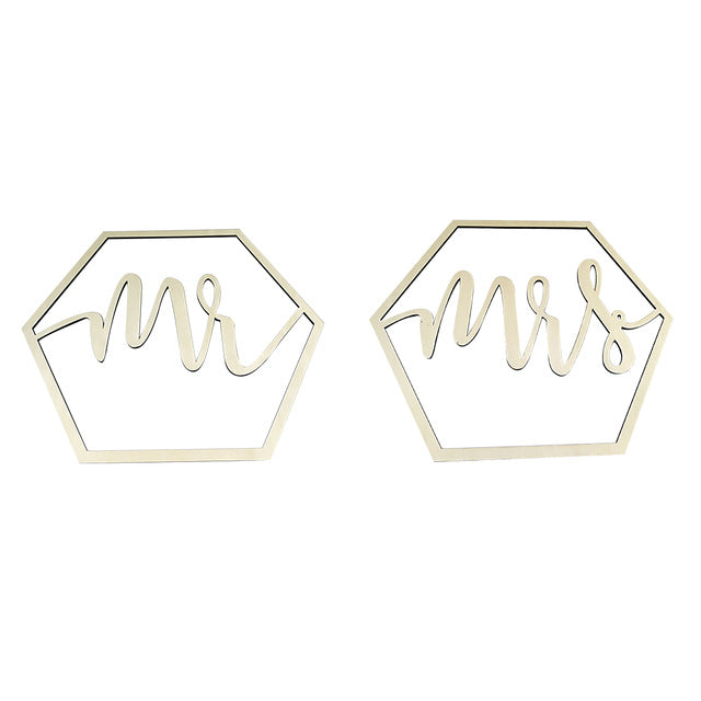 Bride and Groom Chair Backer Identifiers