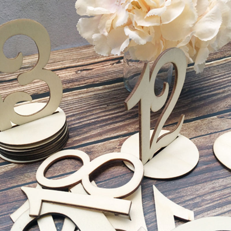 Wood Wedding Table Number Decoration