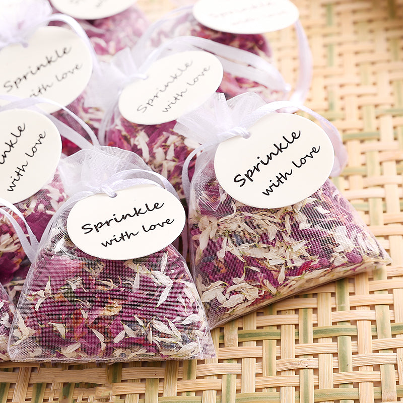 Natural Wedding Confetti Dried Flower Petals Wedding Biodegradable Rose Petals (10 bags)