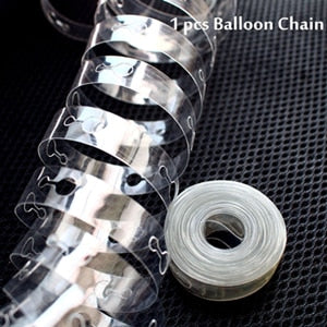 Balloon Chain Holder for Arches and Other Balloon Organized Placements