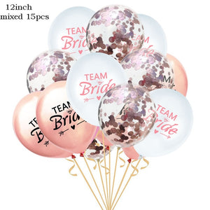 15 Pcs/Set Team Bride Wedding Balloon Set