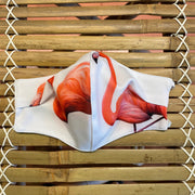 Large Flamingo Reversible Face Mask