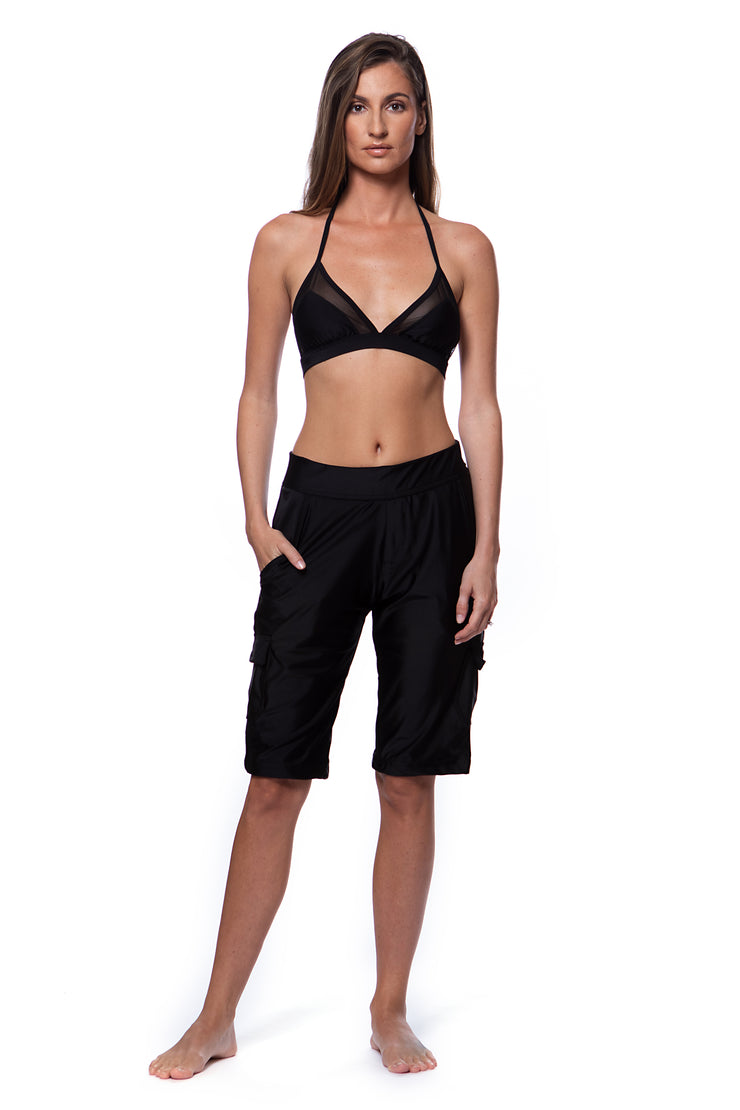 black board walk shorts
