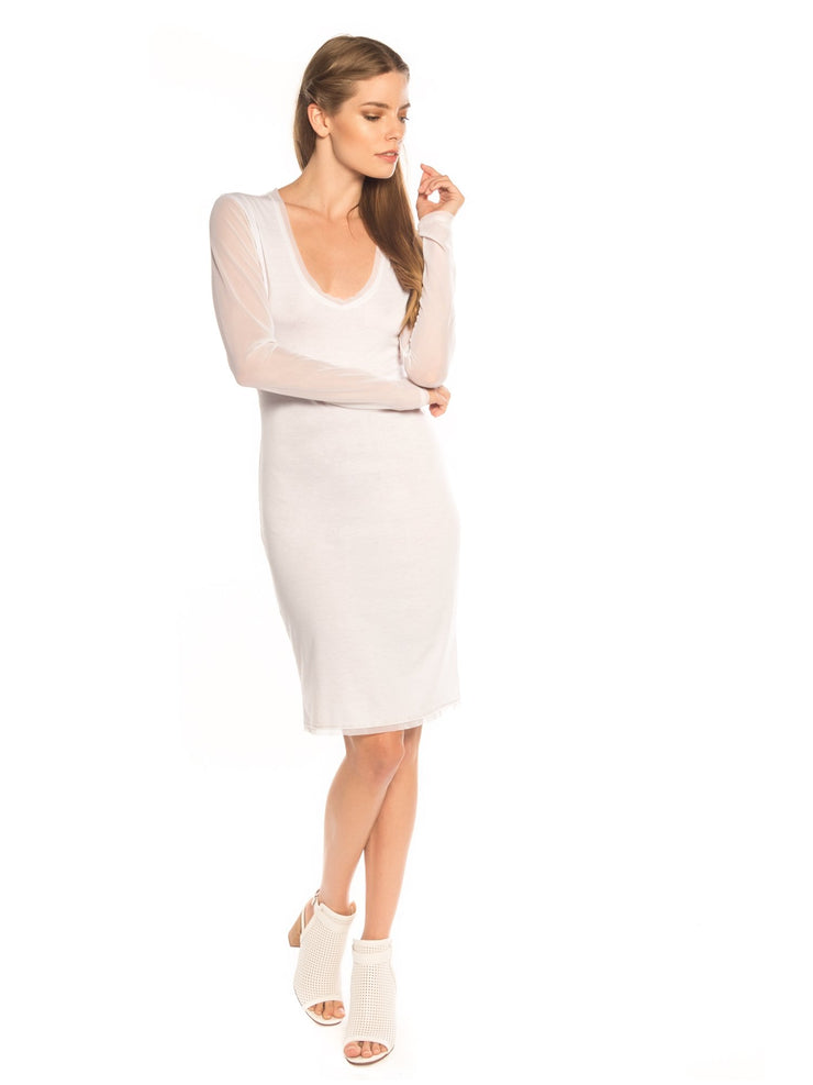 T-Shirt Long Sleeve Knee Length Dress