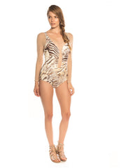 Sheer Plunge One Piece