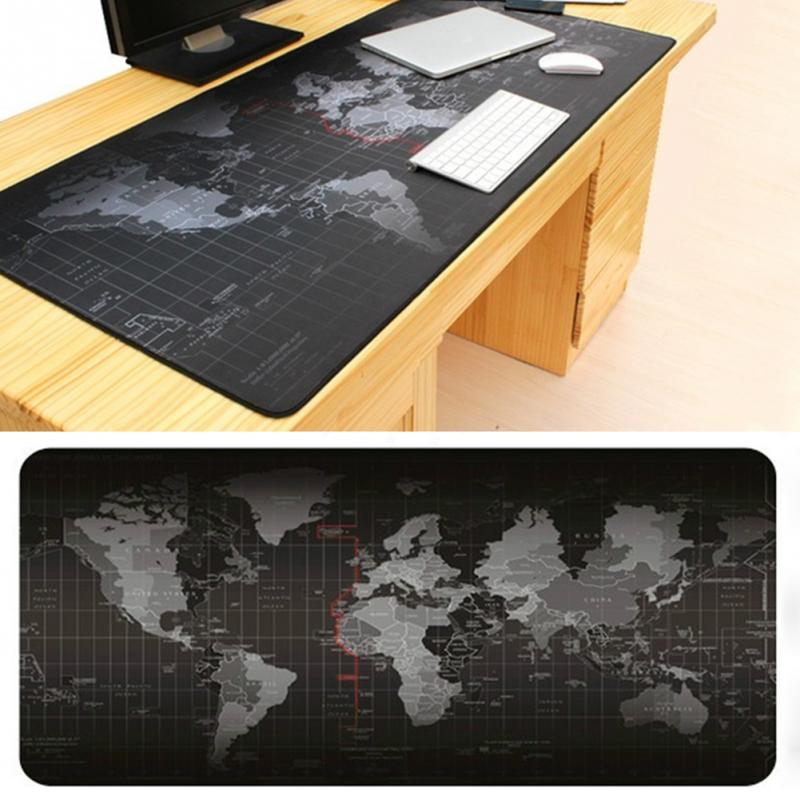 Large World Map Desk Mouse Pad