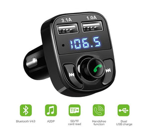Bluetooth FM Transmitter MP3 Player Dual USB Charger Car Kit