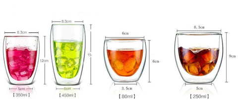 Double Layer Drinking Glass