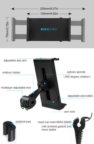 Image of Car Phone Tablet 360 Rotation Holder