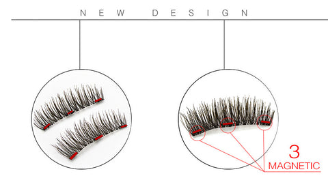 Image of Magnetic 3D False Eyelashes