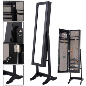 Standing Mirrored Jewelry Cabinet