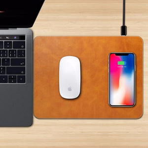 Mobile Phone Wireless Qi Charging Mouse Pad