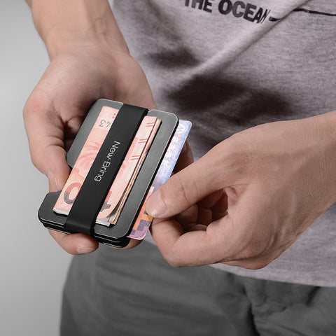 Image of Multi-functional Metal Anti-theft Wallet