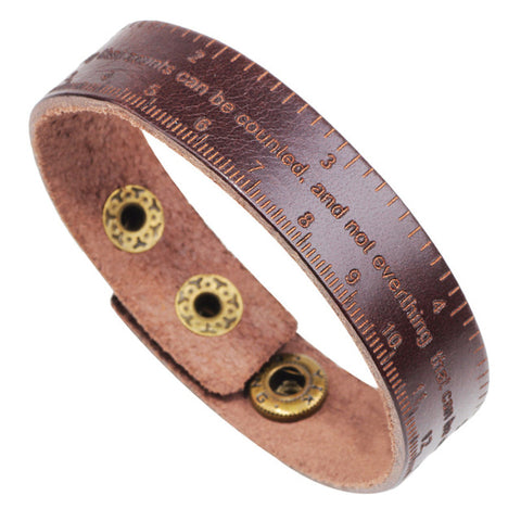 Leather Ruler Bracelet