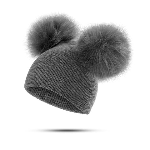 Pom Pom Winter Wool Beanie