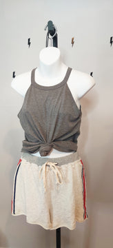 Vintage French Terry Striped Shorts