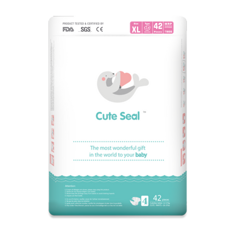 Cute Seal - Canadian Premium Baby Diapers - Extra Large - 42 Pcs (Velcro Type) - XL