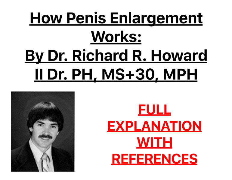 How Penis Enlargement Works by Dr. Richard R. Howard II Dr. PH, MS+30, MPH